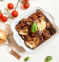 Lasagne d'aubergine & boeuf à la provençale