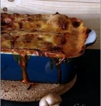 Lasagnes aux Protéines de Soja, Champignons & Chèvre