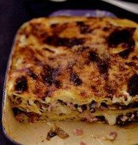 Mushroom and Ham Lasagna