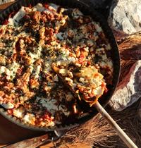 Lasagnes façon « tarte fine » aux aubergines et feta