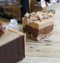 Le Cube : noisettes, chocolat et caramel