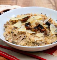 Le risotto inratable aux 2 champignons