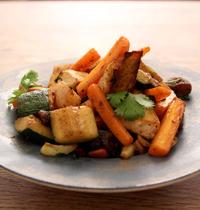 Légumes poêlés façon tajine aux abricots