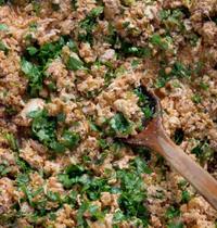 Clasico Argentino's chicken and cilantro 'empanadas'