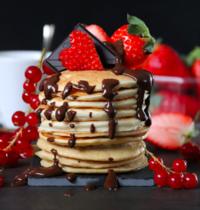 Les pancakes à la vanille