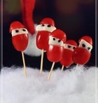 Les petits Pères Noël tomate - mozza (végétarien)