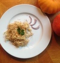 Les radicelles de poireau en frites