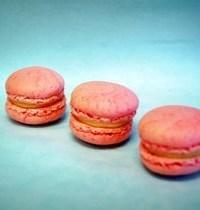 Blood peach macarons (makes 30)