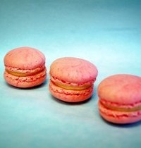 Blood peach macarons (makes 30)