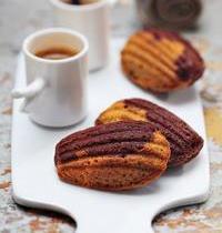 Madeleines choco-café et café