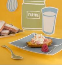 Madeleines revisitées aux éclats de biscuits roses de Reims