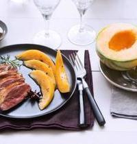 Magret de canard aux épices et au Melon de nos Régions caramélisé