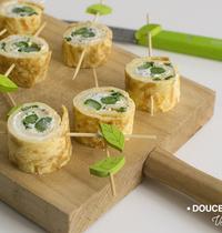Makis d'omelette aux asperges