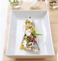 Mackerel with lentils