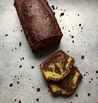 Marbré pistache et chocolat noir