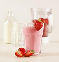 Milkshake aux fraises sans lactose