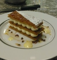 Sudachi (Japanese citrus fruit) cream Napoleon