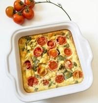 Mini Clafoutis Tomates Cerises & Chèvre