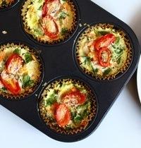 Mini frittatas vegan aux légumes
