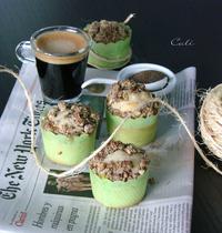 Mini muffins au yaourt & pomme, streusel à la pistache