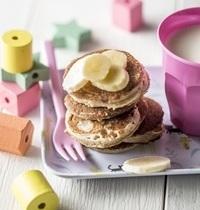 Mini-pancakes à la banane (sans lactose et sans gluten)