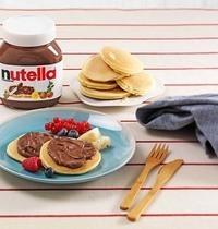 Mini pancakes au Nutella et aux fruits