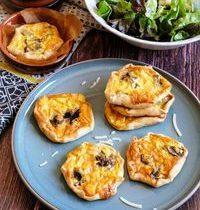 Mini Quiches Végétariennes Parmesan & Champignon