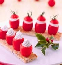 Mini-tomates farcies de Société à Tartiner, mouillettes de pain céréales