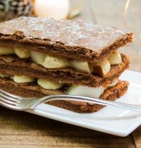 Moelleux crémeux à la poire et au cacao