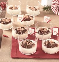 Mousse au chocolat blanc avec crumble et Nutella