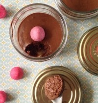 Mousse au chocolat et aux fraises Tagada
