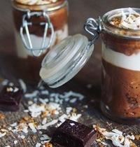 Mousse duo chocolat noix de coco