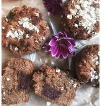 Muffin vegan coeurs chocolat (option matcha)