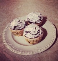 Muffins onctueux pépites et glaçage chocolat