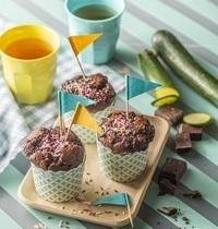 Muffins au chocolat noir et à la courgette