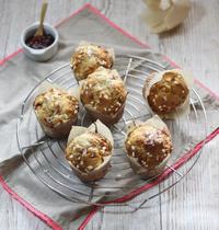 Muffins au miel et aux fraises