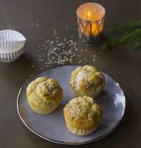 Muffins au saumon fumé, crème et aneth