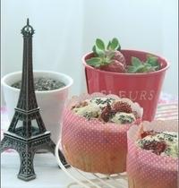 Muffins aux Fraises & Graines de Chia