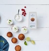 Muffins framboises & glaçage léger citron vert