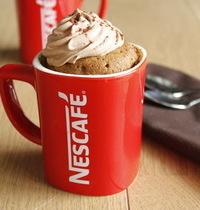 Mug cake au café, chantilly au chocolat noir