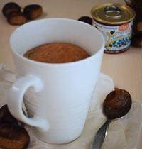 Chestnut cream mug cake