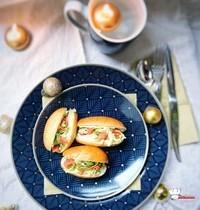 Navettes apéritives Saumon Crème Mascarpone Ciboulette