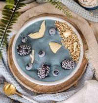 Nice cream onctueuse à la poudre de spiruline bleue