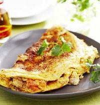 Omelette allégée au thon