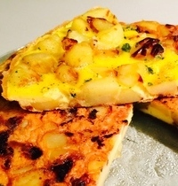 Onion and potato omelet