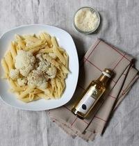 One pot pasta : penne au chou-fleur et huile de truffe noire