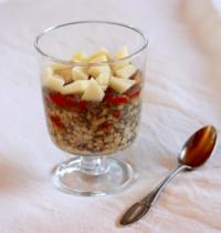 Porridge aux flocons d'avoine et graines de chia