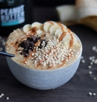 Overnight porridge au beurre de cacahuète
