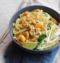 Pad thaï tofu-crevettes