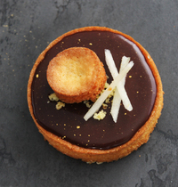 Palet Breton, cœur de poires et ganache chocolat